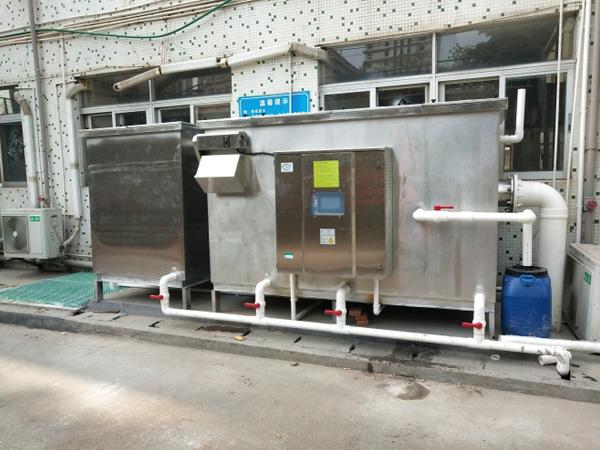 惠州美锐电子食堂油水分离工程